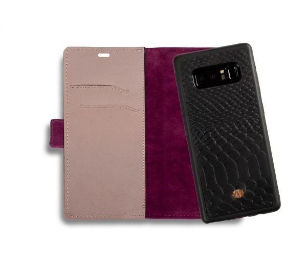 Etui portfel na smartfon tłoczona skóra węża