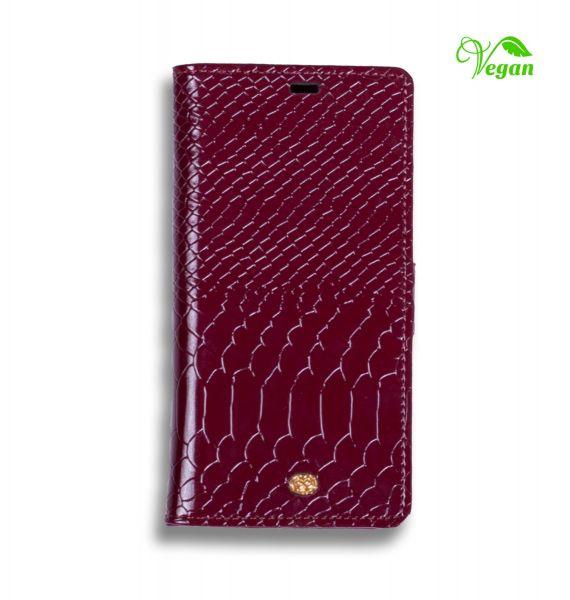 Etui portfel na smartfon tłoczona skóra wegańska